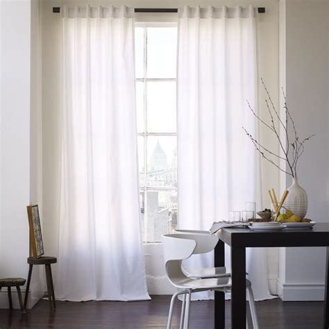 Cotton Canvas Window Panel White Contemporary