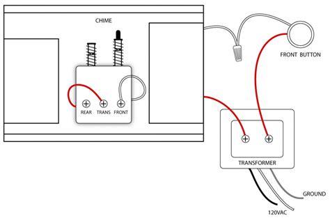 doorbell wiring diagram single doorbell wiringwire simple electric outomotive circuit routing install electric door bell