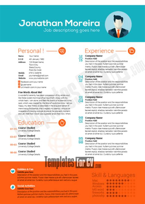 Attractive Cv Templates by Cv Templates Web Developer Choice Image Certificate