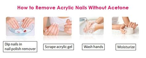 how to remove acrylic nails without acetone at home