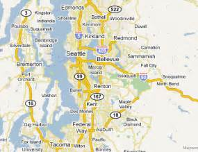 Seattle Tacoma Map by Seattle Tacoma Metro Area Web Design Amp Development Firms