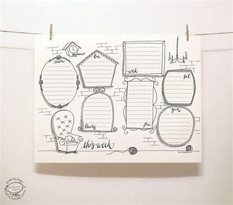 printable planner doodles doodle perpetual weekly planner organizer wall of