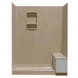 swanstone shower wall kit with bench seat at lowes