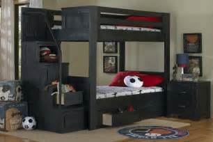 Dining Room Furniture Outlet Black Full Over Full Bunk Bed With Staircase
