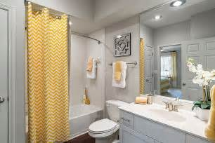 trendy and refreshing gray yellow bathrooms that delight kidsa bathroom reveal some great tips for post reno clean