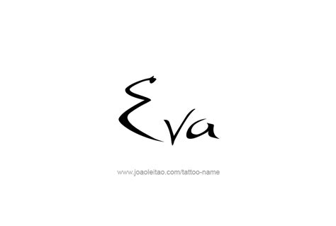 eva tattoo design name designs