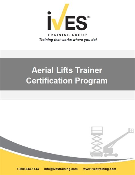 Scissor Lift Certification Form Ives Training Certificates Bing Images Vehicle Mounted Aerial Aerial Lift Safety Program Template