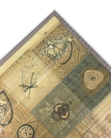 tappeto bamboo tappeto cucina in legno bamboo shabby cuore beige misura