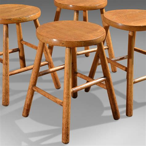 country kitchen stools antique set of 4 country kitchen stools elm ash
