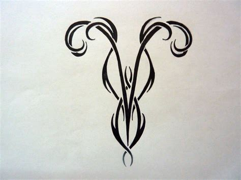 aries tribal symbol tattoo black tribal aries zodiac design