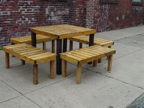 plans  building  picnic table  separate benches