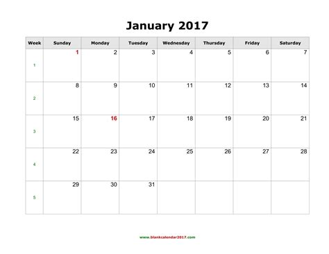 Blank Monthly Calendar 2017 Weekly Calendar Template Free Photo Calendar Template 2017