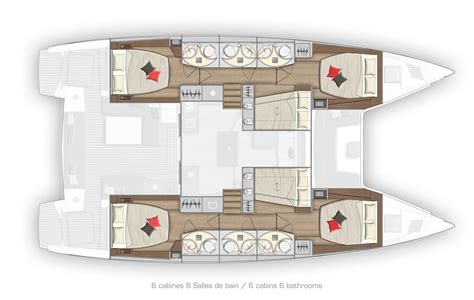 cabin charter new lagoon 50 6 cabin charter layout catamaran layouts