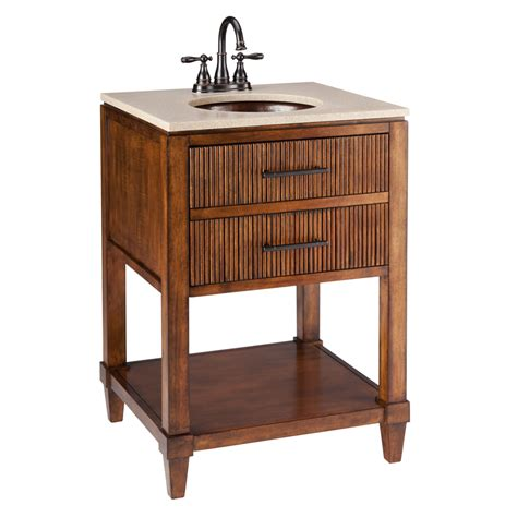 Lowes Bathroom Vanity Cabinet Shop Thompson Traders Renovations Espresso Undermount Single Sink Bathroom Vanity With Cultured