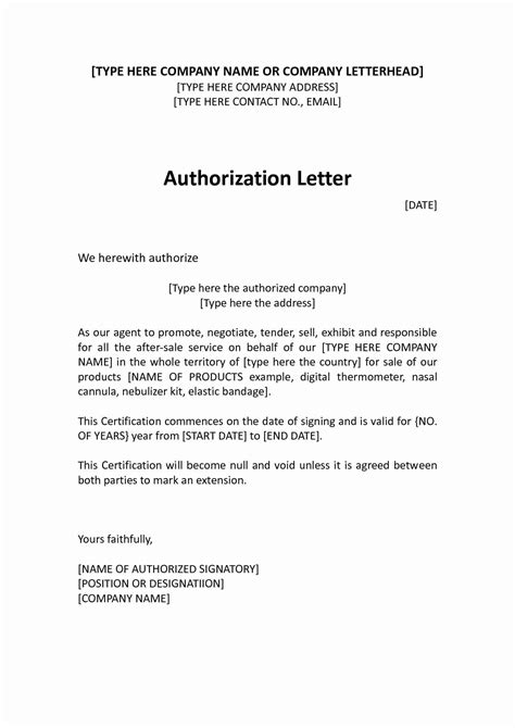 letter  authorization  represent examples  examples