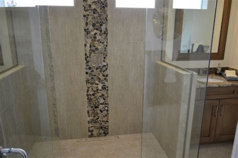 Mosaic Bathrooms Ideas How To Use Pebbles And Penny Mosaics Patterns And Ledger