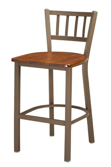 commercial wood bar stools regal seating 309 jailhouse back counter height commercial