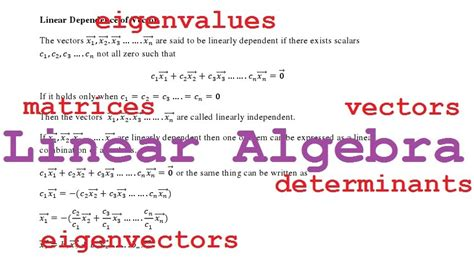 tutorial on vector algebra linear algebra determinants a tutorial with exles