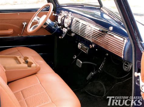 1948 Chevy Interior by 1948 Chevy 3100 Truck Custom Leather Interior