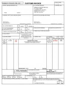 Us Customs Invoice Template us customs invoice form invoice template ideas