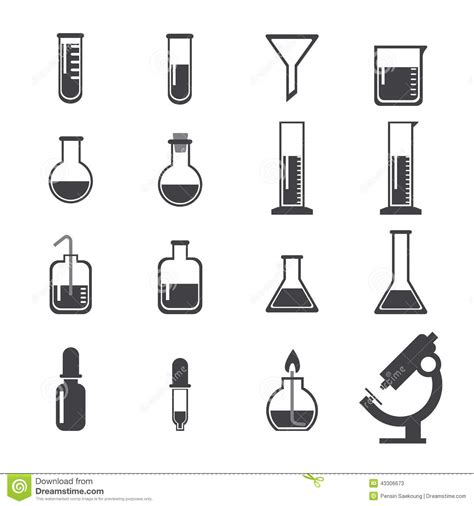 icon design lab set of laboratory equipment vector illustration