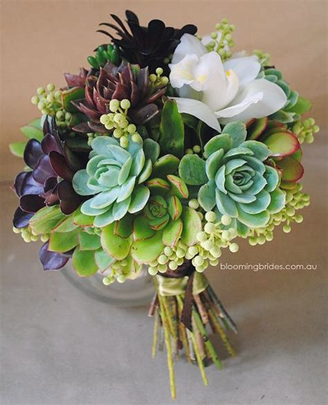 Wedding Bouquet With Succulents by Beautiful Bridal 7 Must See Succulent Wedding Bouquets