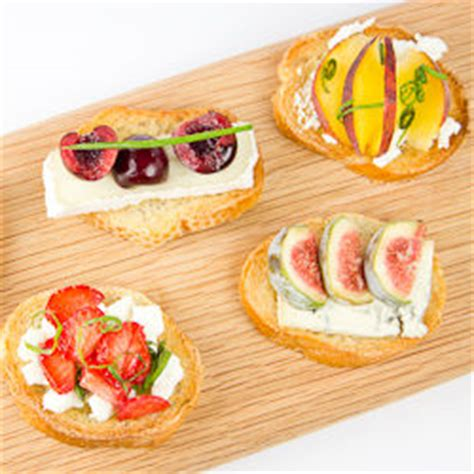 fruit canapes cheese and summer fruit canapes tastespotting