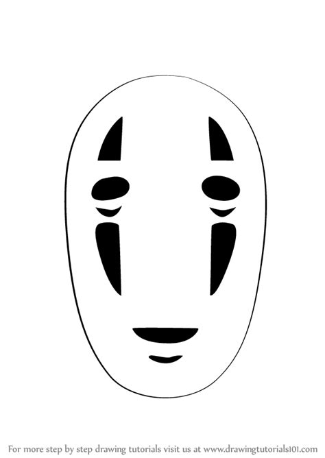 step by step how to draw no face from spirited away