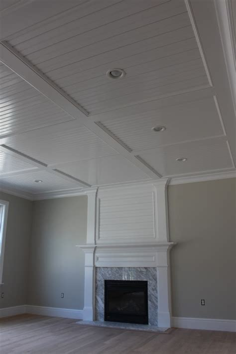 beadboard panels on ceiling beadboard recess panel ceiling custom home finish