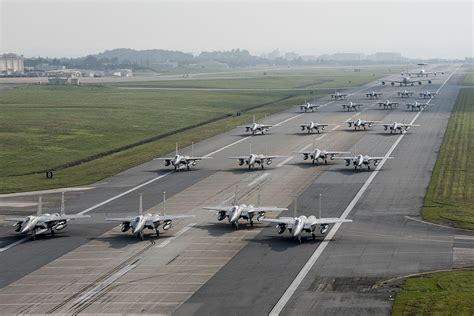 by order of the commander kadena air base instruction 36 the aviationist 187 u s air force stages epic elephant walk