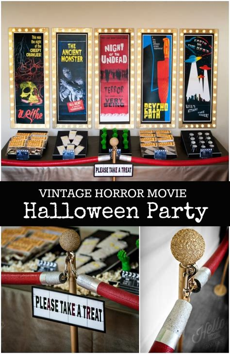 themes in horror films vintage horror movie halloween party spaceships and