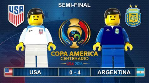 semi copa america 2016 usa vs argentina 0 4 lego