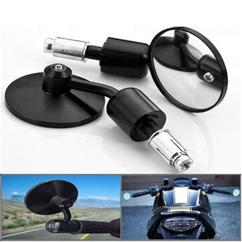 Mirror Quality 7 best quality 7 8 quot black bicycle motorcycle side mirrors atv handle bar end mirror cnc rear view
