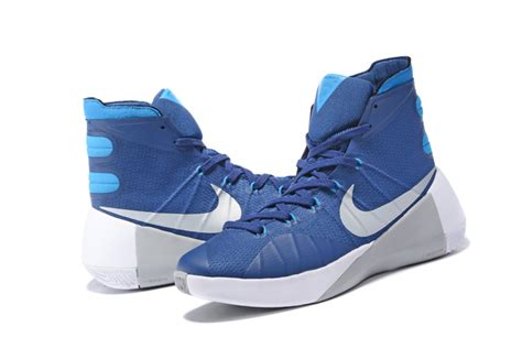 nike blue and white basketball shoes nike hyperdunk 2015 blue white grey basketball shoes