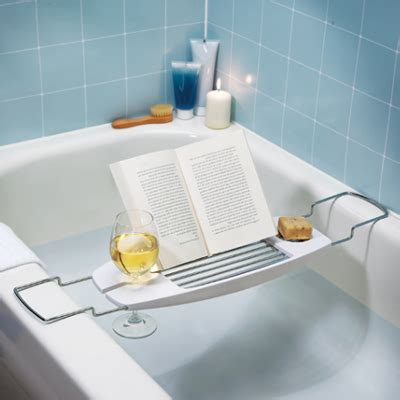 bathtub reading bathtub caddy with reading rack