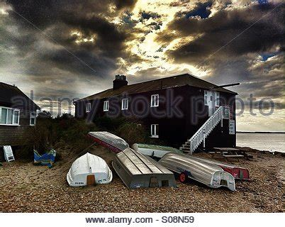 The Black House Mudeford Christchurch Dorset England Stock The House Mudeford