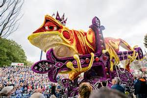 dragon apparent travels in amazing images of zundert as it hosted annual flower parade daily mail online