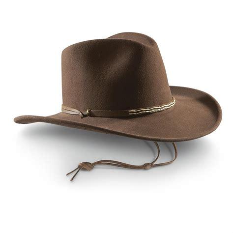 sportsman boats hat bailey 174 orbell lite felt cowboy hat brown 421675 hats