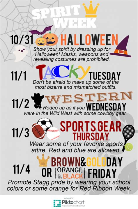 spirit week november  stagg