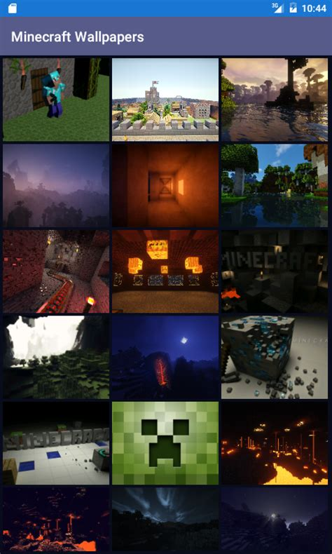 wallpaper android minecraft minecraft wallpapers free android app android freeware