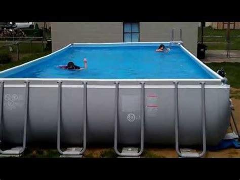 "pool intex ultra frame 32x16 (52"" deep) youtube"