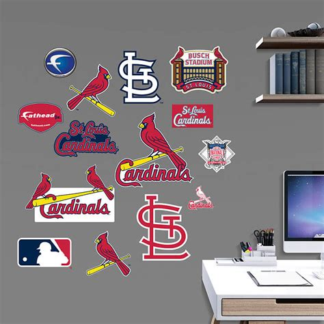 Office Team St Louis by St Louis Cardinals Team Logo Assortment Wall Decal