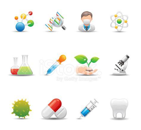 biotechnology & medicine icon set | elegant series stock