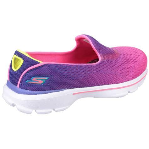 Slip On Fusha 3 skechers go walk 3 slip on purple neon pink shoes