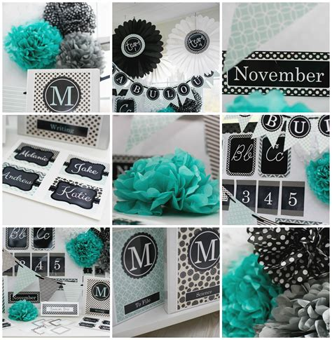 black and teal themed classroom ideas home design inside