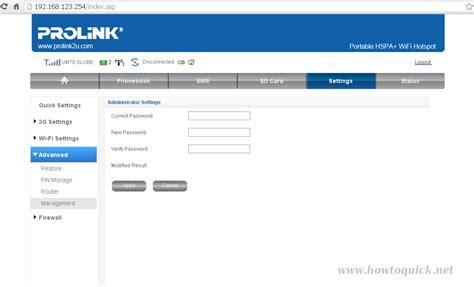 Modem Prolink Prt7001h change prolink prt7001h web ui configuration page password howtoquick net