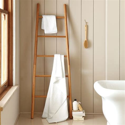 bathroom west bamboo ladder modern bathroom accessories by west elm