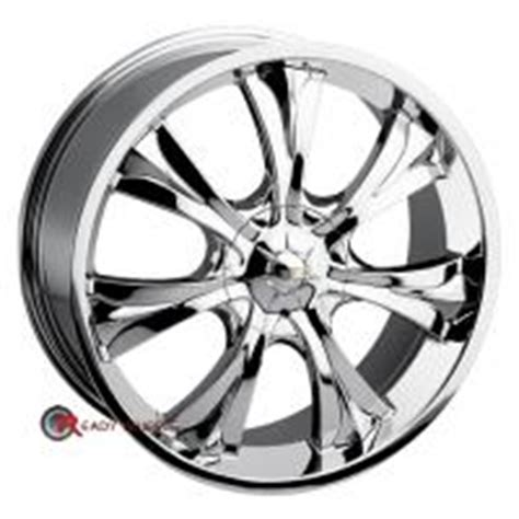baccarat mirage 1120 chrome 7 spoke 18 inch wheel and tire