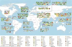 interactive map shows where the world s food comes from