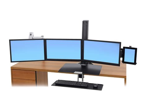 office desk with tv mount ergotron lx sit stand desk mount lcd arm radius office